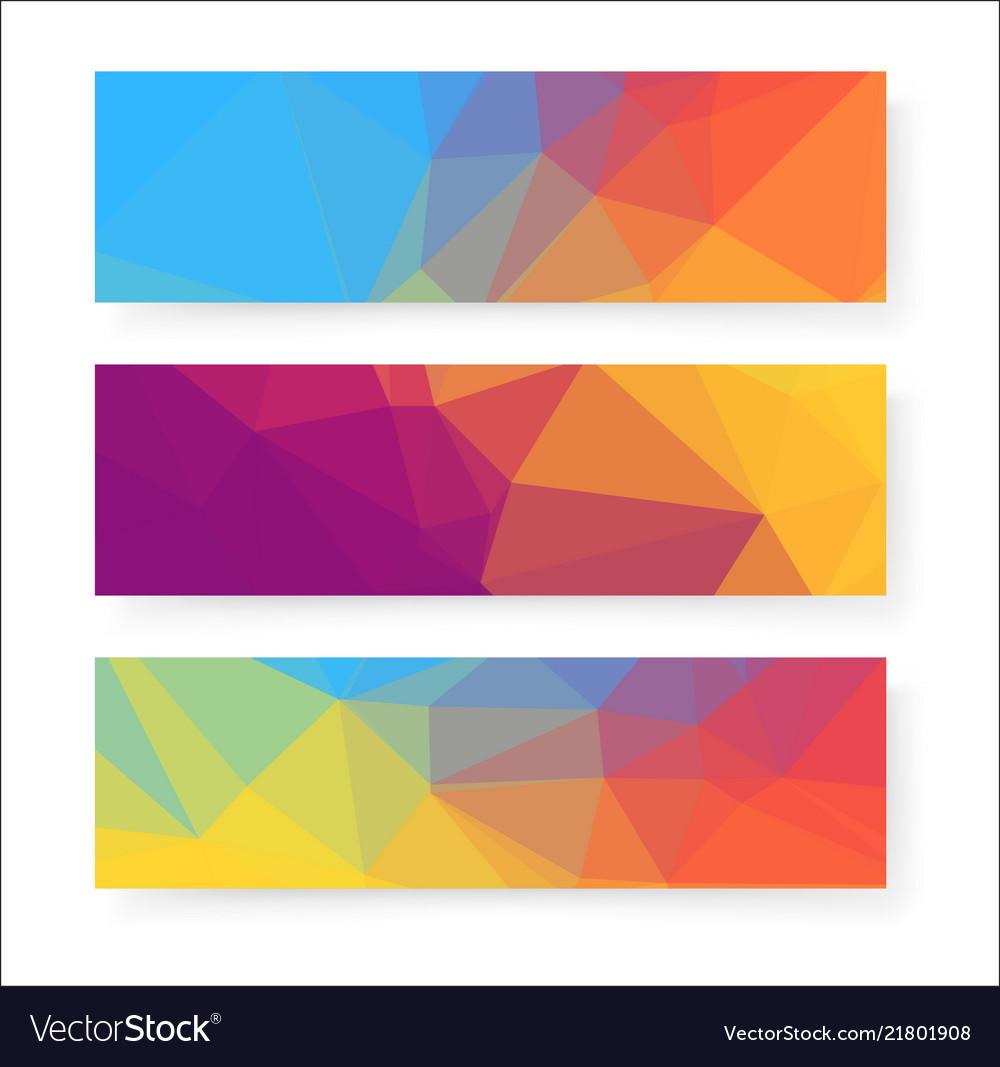 colorful banner design background