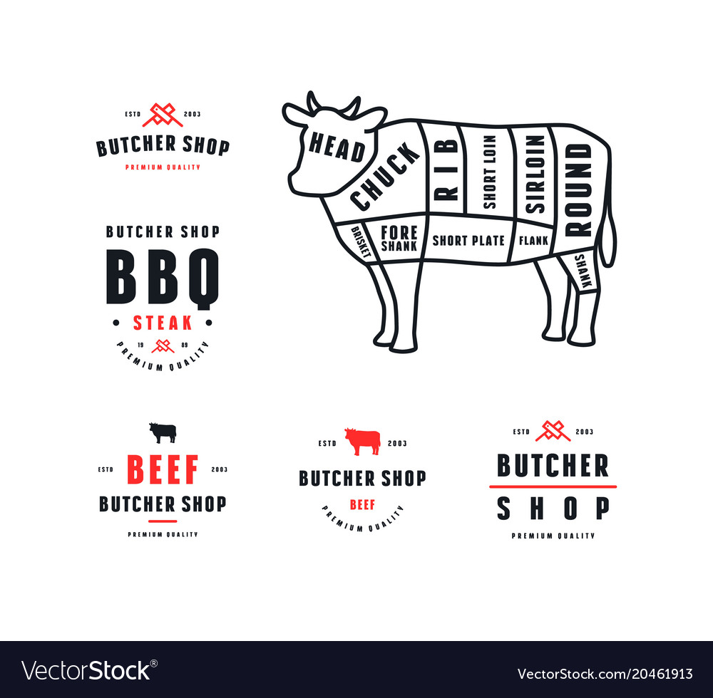 hight resolution of stock beef cuts diagram and label for butcher shop butcher cuts diagram butcher shop diagram