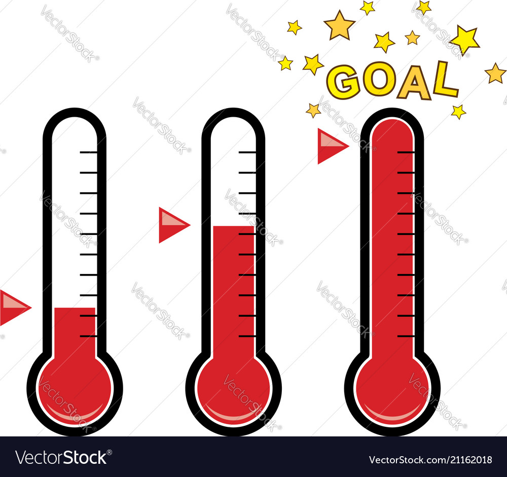 hight resolution of clipart set of goal thermometers vector image