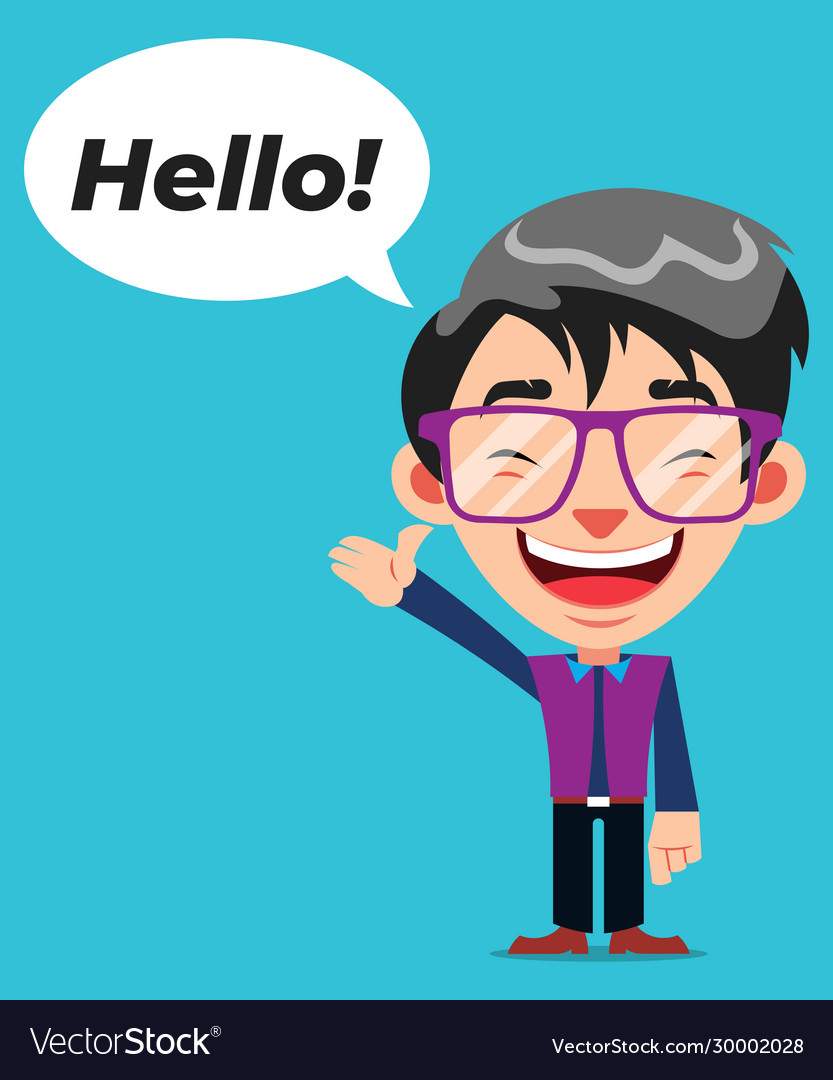 Hello Funny Image : hello, funny, image, Funny, Cartoon, Character, Glasses, Hello