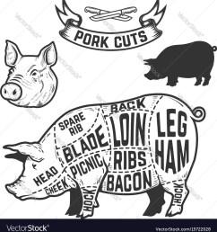 pork cuts butcher diagram design element for vector image pork butcher diagram pig butcher diagram [ 974 x 1080 Pixel ]