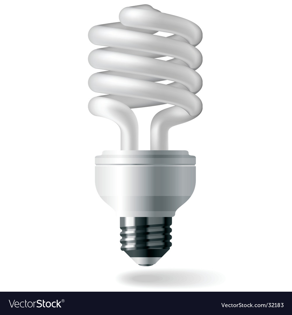 hight resolution of energy saving light bulb royalty free vector image