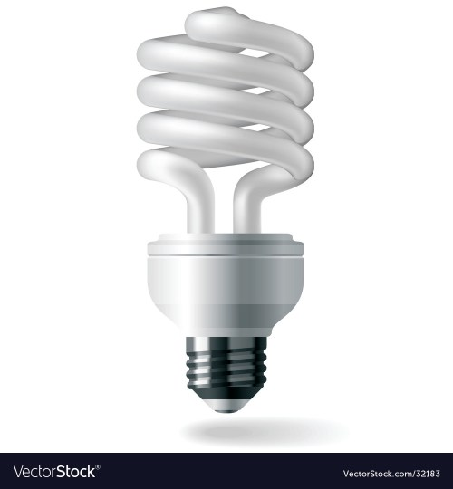 small resolution of energy saving light bulb royalty free vector image