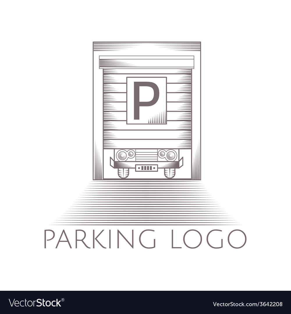 parking garage icon with