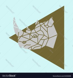 rhino rhinoceros head geometric royalty free vector image rhino head diagram [ 1000 x 1080 Pixel ]