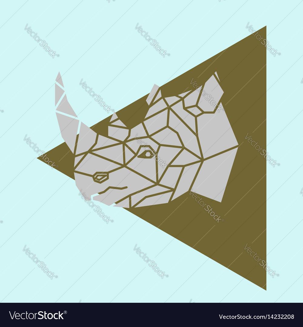hight resolution of rhino rhinoceros head geometric royalty free vector image rhino head diagram