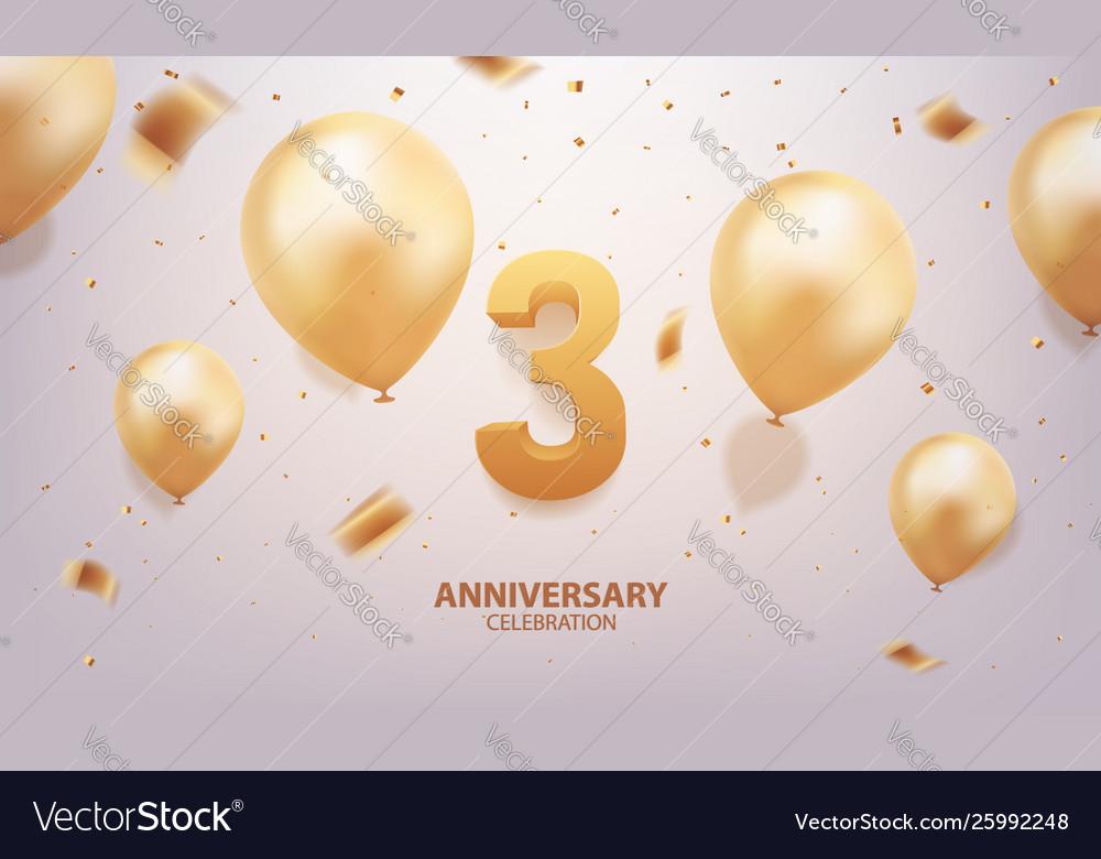 3rd year anniversary celebration