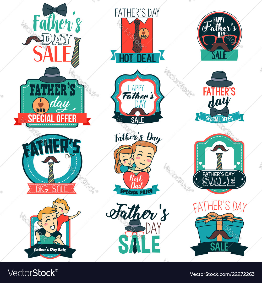 medium resolution of father day sale sign clipart vector image