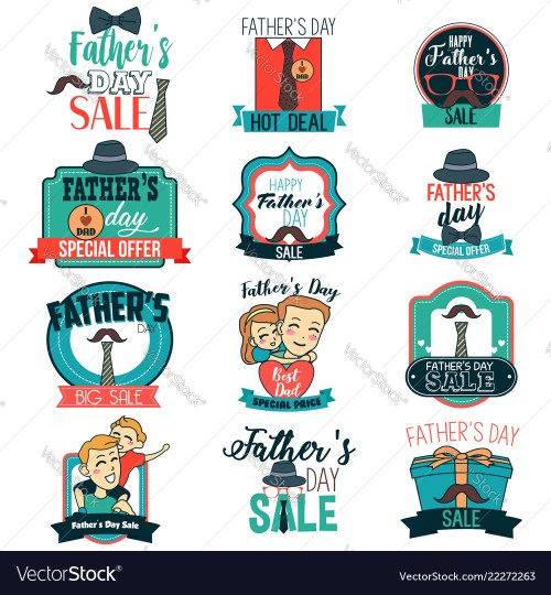 small resolution of father day sale sign clipart vector image