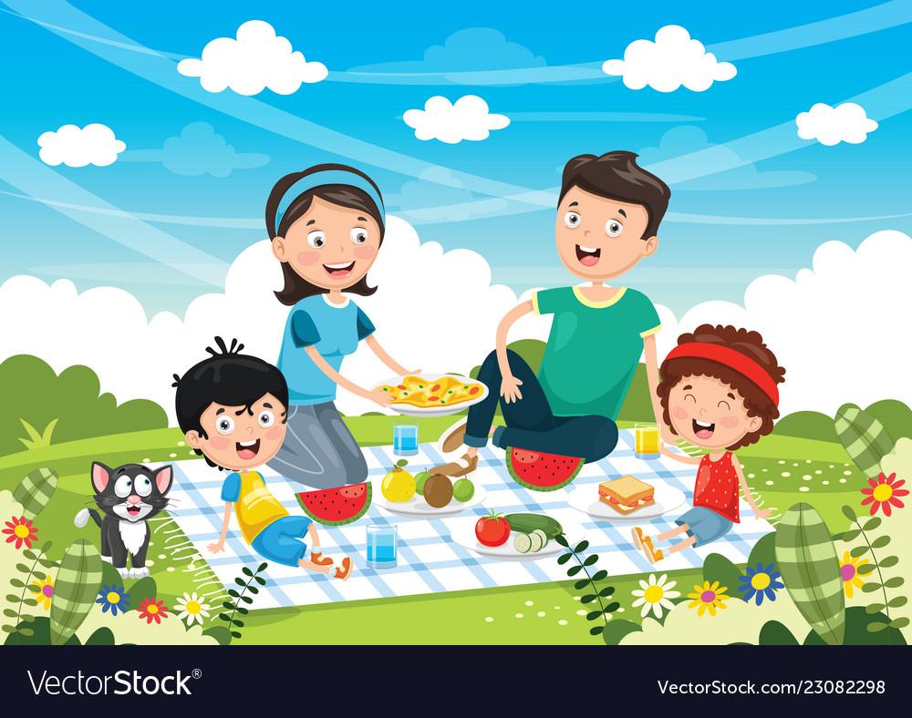 medium resolution of family picnic clipart
