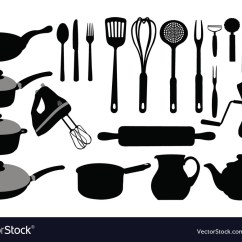 Kitchen Tool Chef Design Tools Collage Royalty Free Vector Image