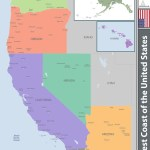 West Coast Of The United States Royalty Free Vector Image