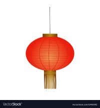 Traditional red chinese lantern Royalty Free Vector Image