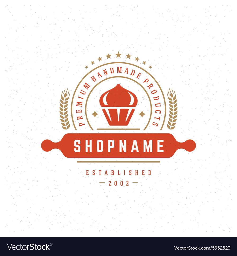 Bakery Shop Logo Design Element Royalty Free Vector Image
