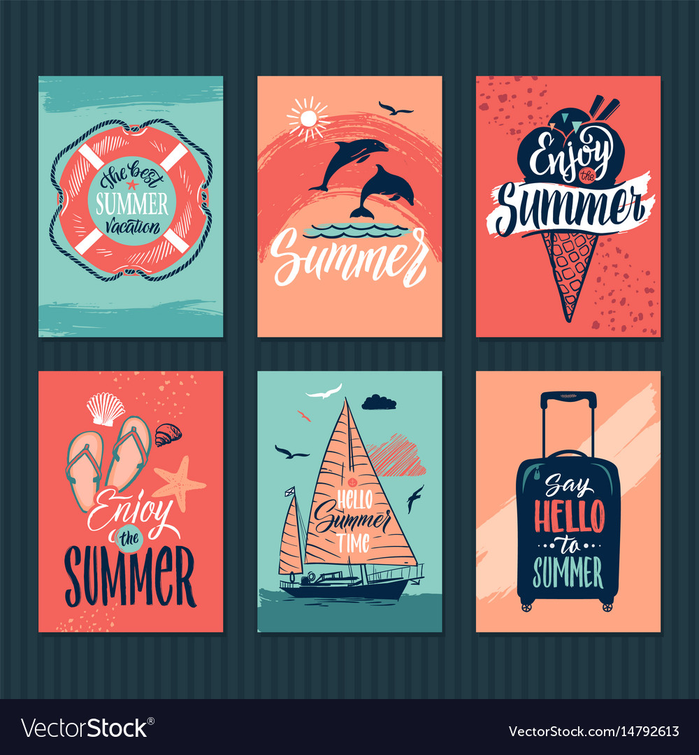 summer tropical postcards or
