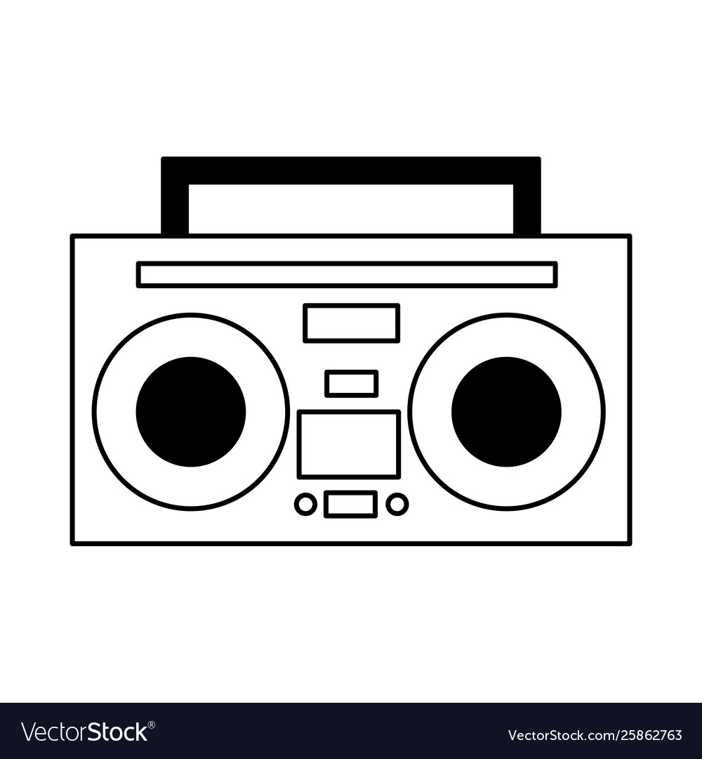 boombox stereo music on