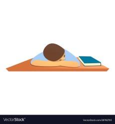 Student sleeping at desk icon cartoon style Vector Image