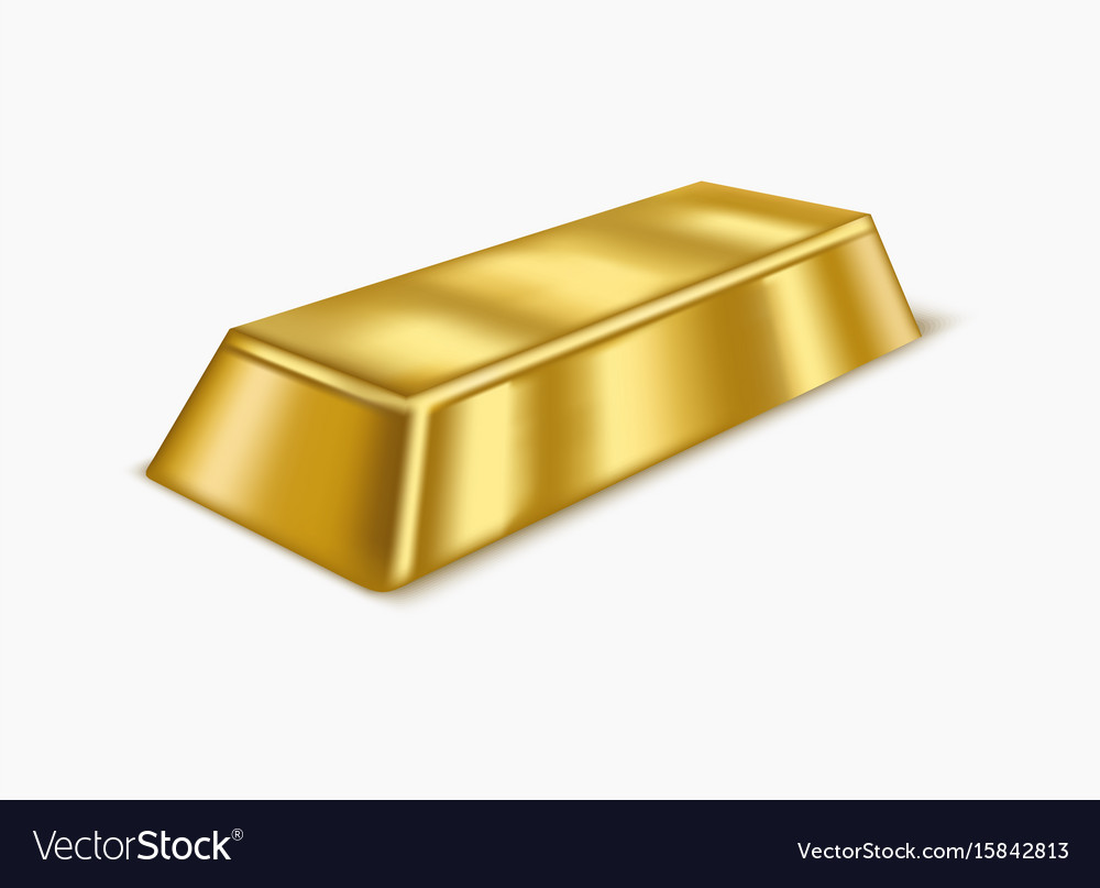 realistic gold bar or