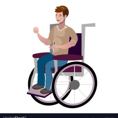 Wheelchair Man Cheap Plastic Patio Chairs Disabled Young In Royalty Free Vector Image