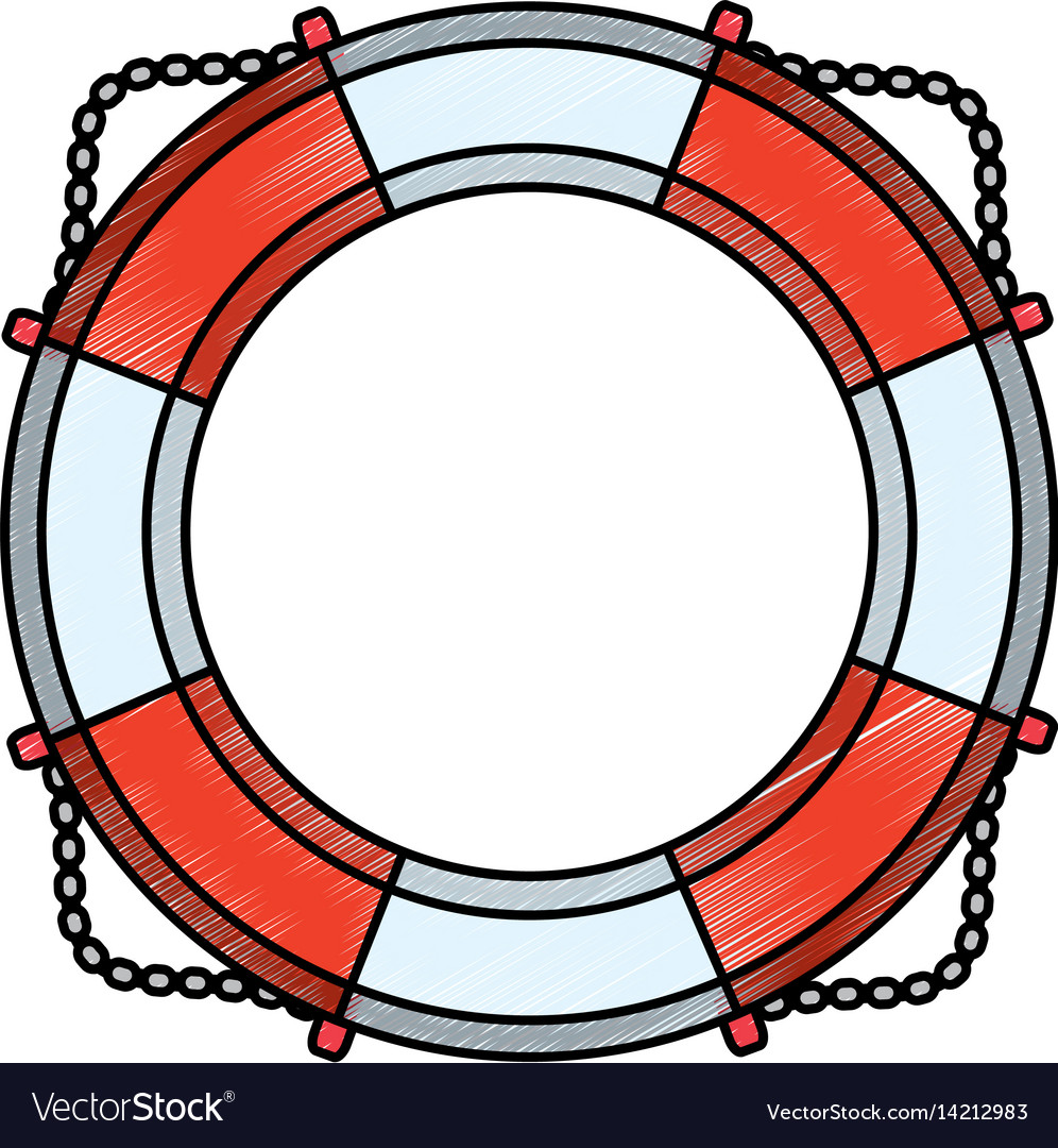 nautical life ring vector