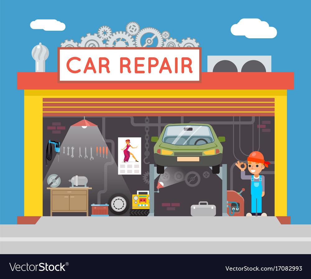 Auto repair service garage shop technician vehicle