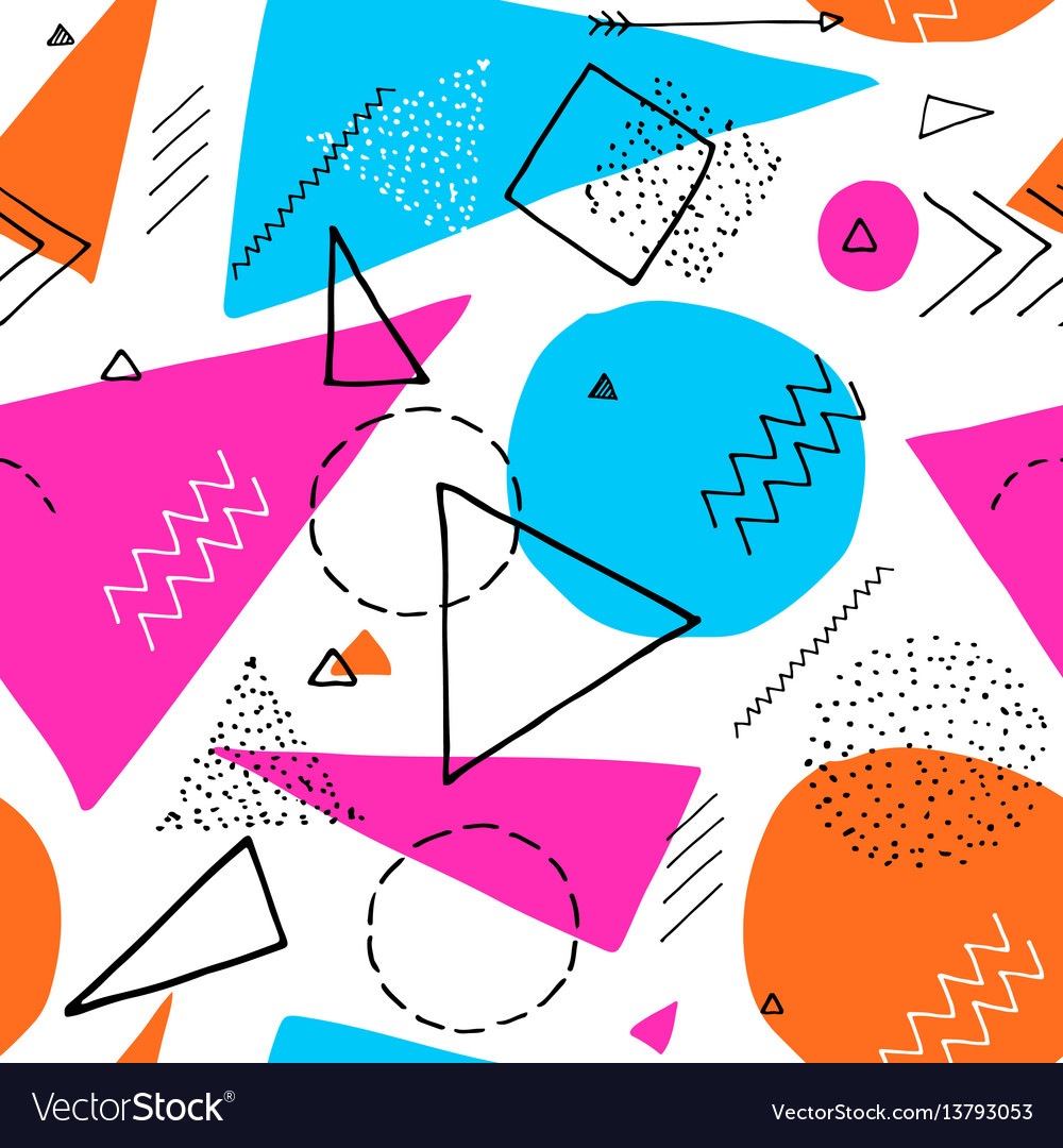memphis design 80s geometric