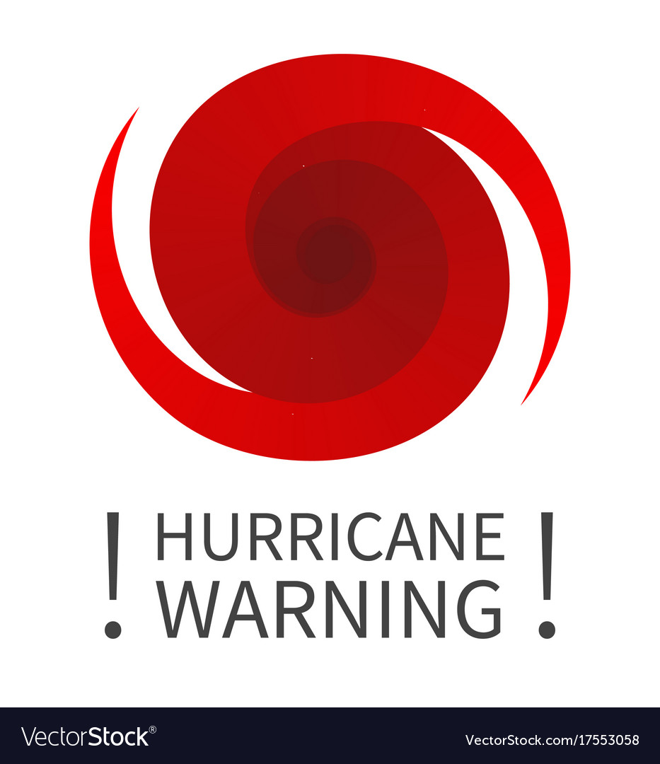 graphic banner of hurricane