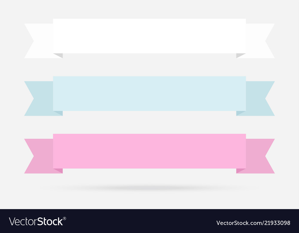 popular label ribbon pastel