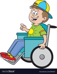 Cartoon Boy in a Wheelchair Royalty Free Vector Image
