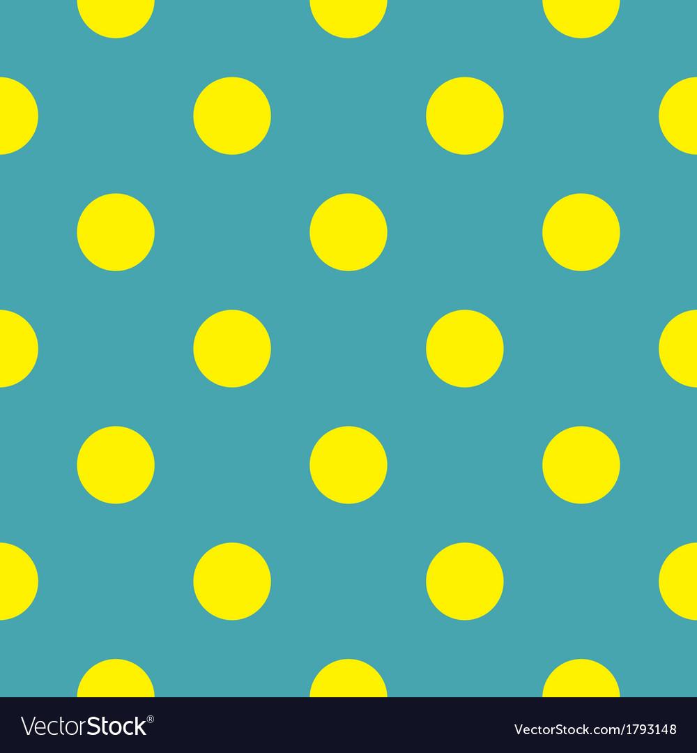 pic Blue Yellow Polka Dots vectorstock