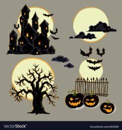 set of halloween elements vector image [ 1000 x 1080 Pixel ]