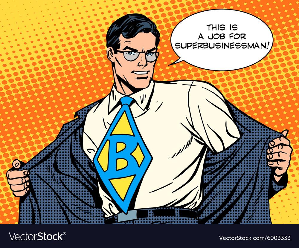 job super businessman hero