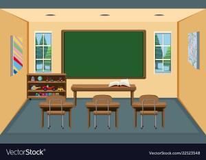 classroom empty vector interior vectorstock royalty