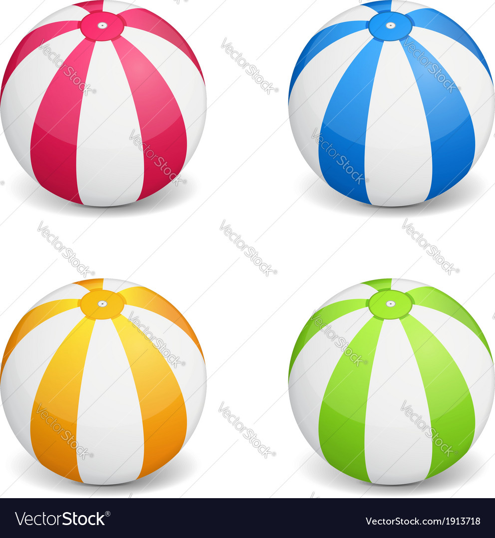 hight resolution of beach ball vector image