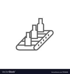 conveyor belt system line icon vector image [ 1000 x 1080 Pixel ]