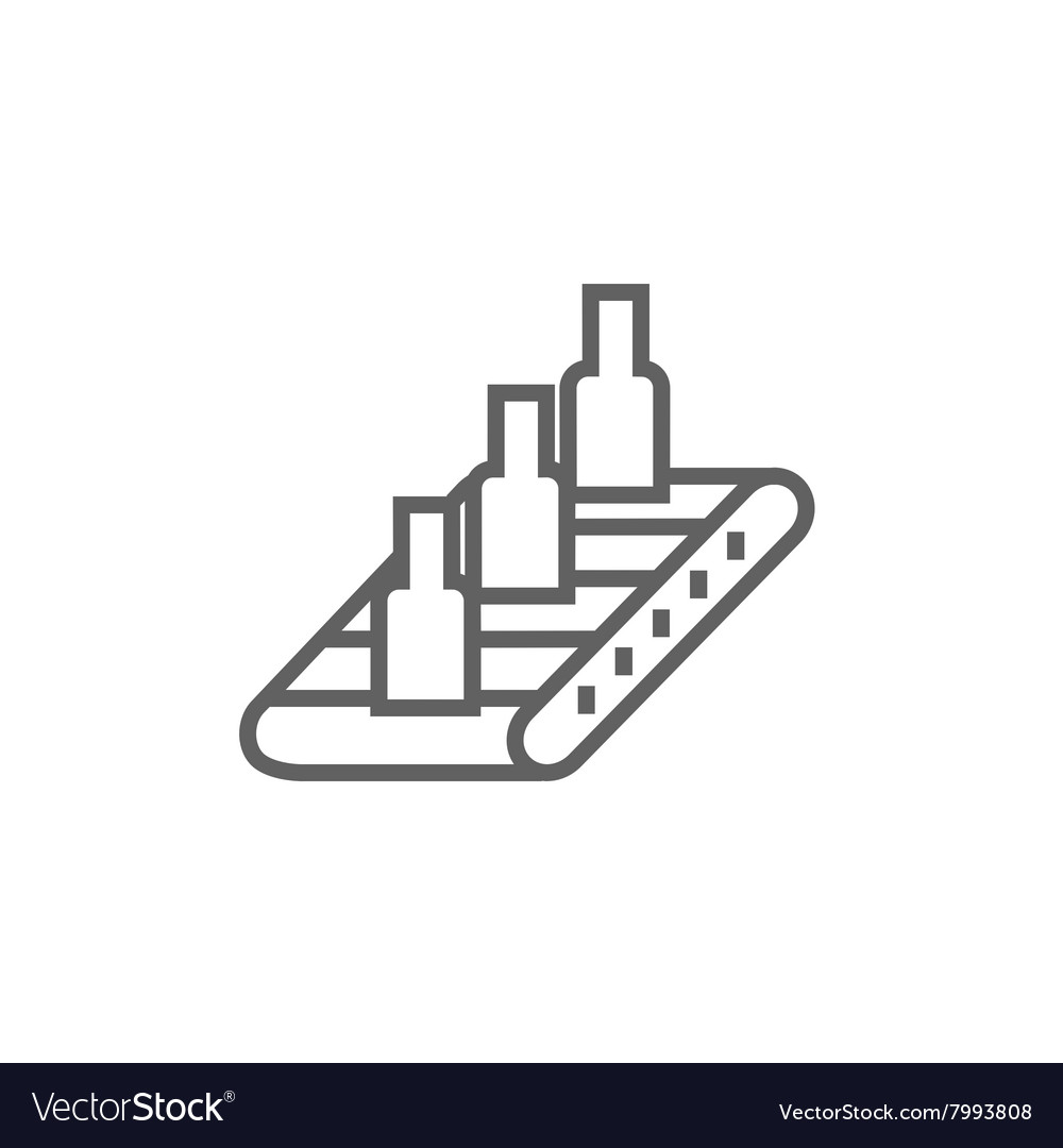 hight resolution of conveyor belt system line icon vector image