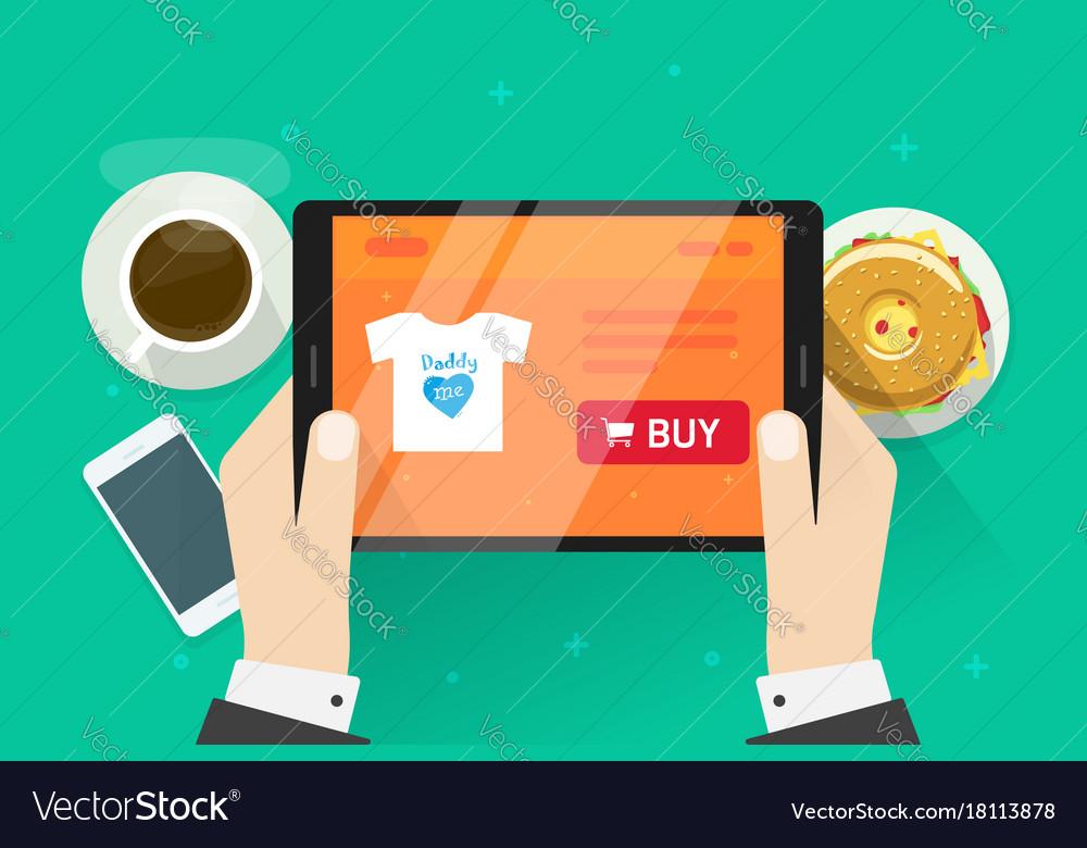 online shopping flat cartoon