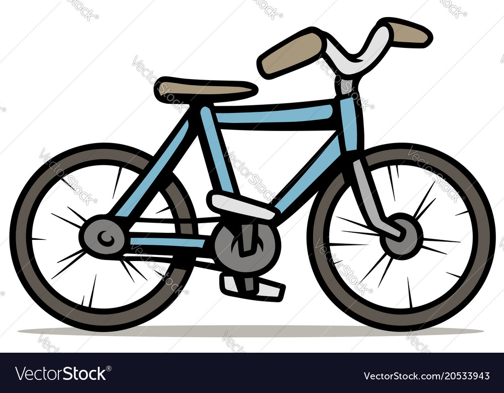 cartoon blue bicycle isolated
