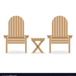 Wooden Porch Chairs Chair Covers And Sashes For Hire Adelaide Garden Table Royalty Free Vector Image