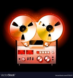 reel to reel stereo tape deck recorder vector image [ 1000 x 1027 Pixel ]