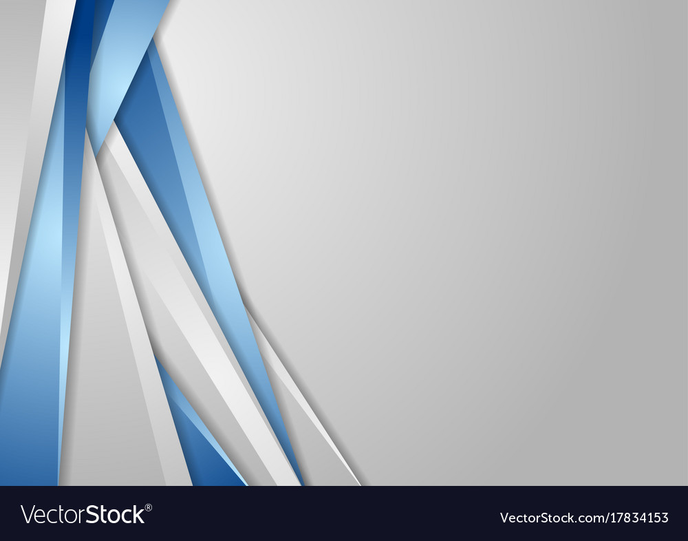 Grey and blue tech corporate background Royalty Free Vector