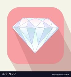 Cute pastel light blue diamond on pink background Vector Image