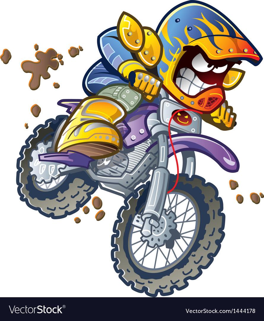 hight resolution of bmx dirt bike rider vector image