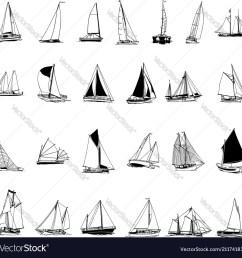 sailboat collection cartoon clipart vector image [ 1000 x 997 Pixel ]