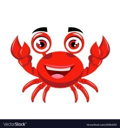 crab cartoon or crab clipart cartoon vector image [ 1000 x 1080 Pixel ]