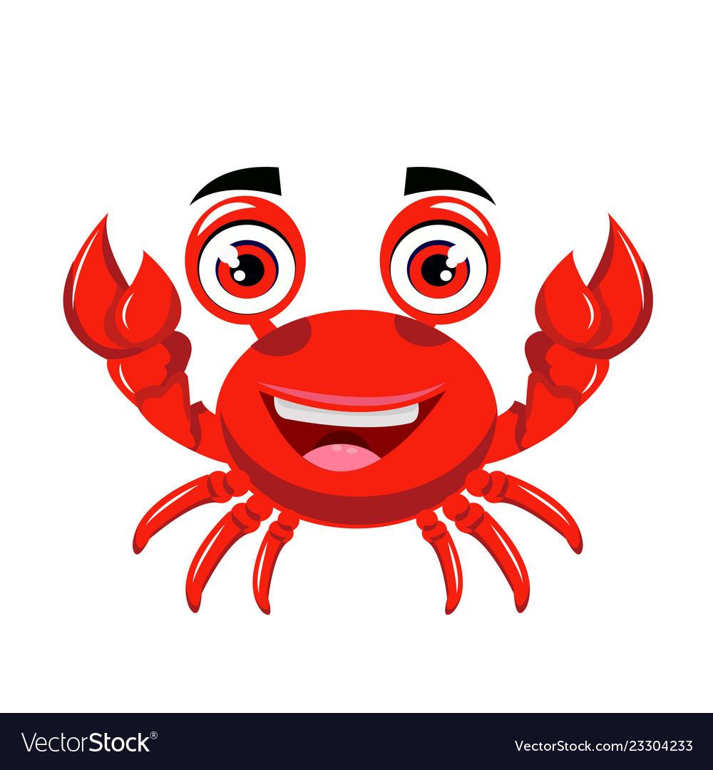 medium resolution of crab cartoon or crab clipart cartoon vector image