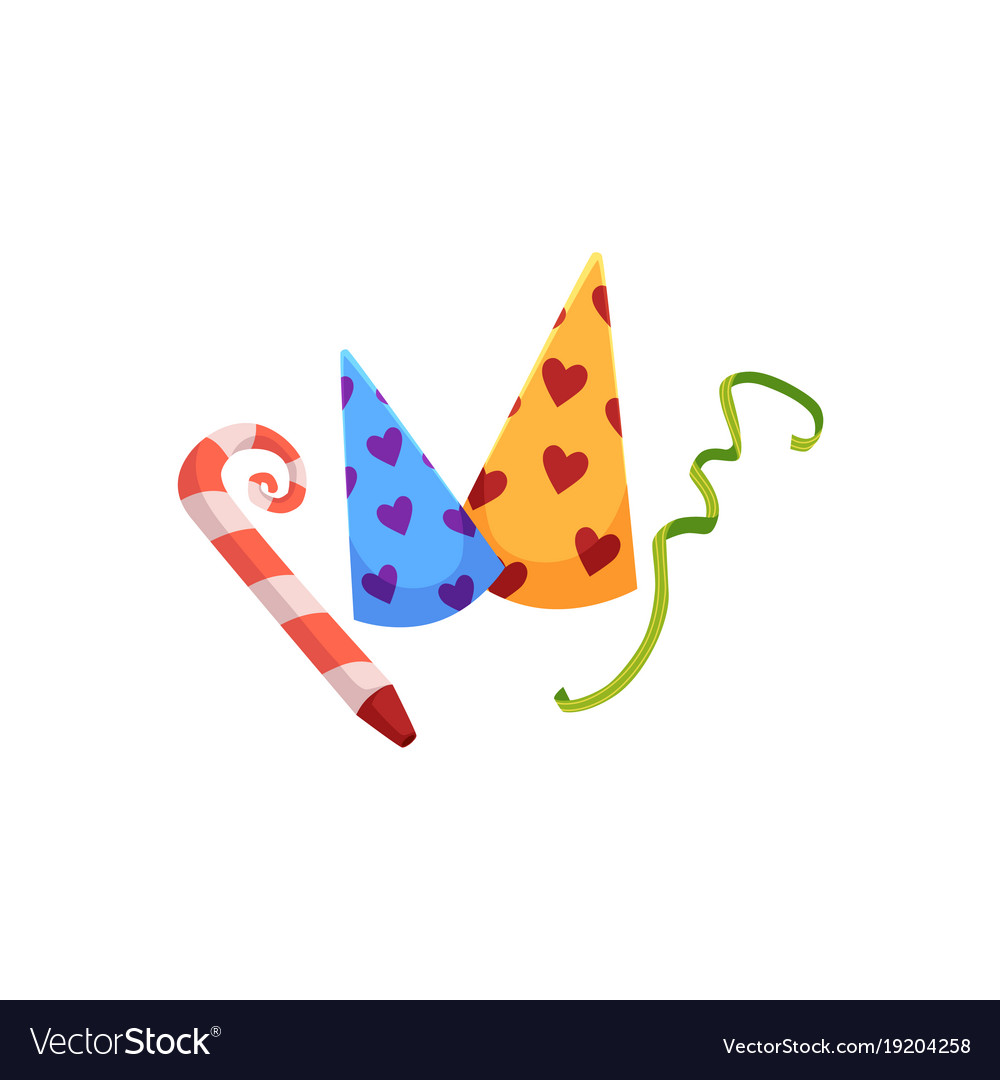 cartoon birthday hat party