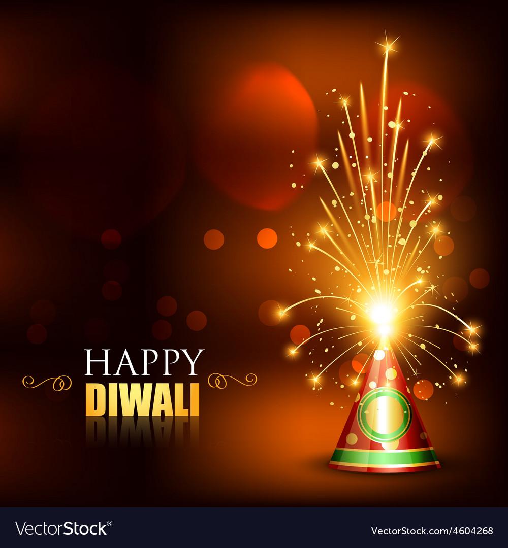 Happy Diwali Crackers Royalty Free Vector Image