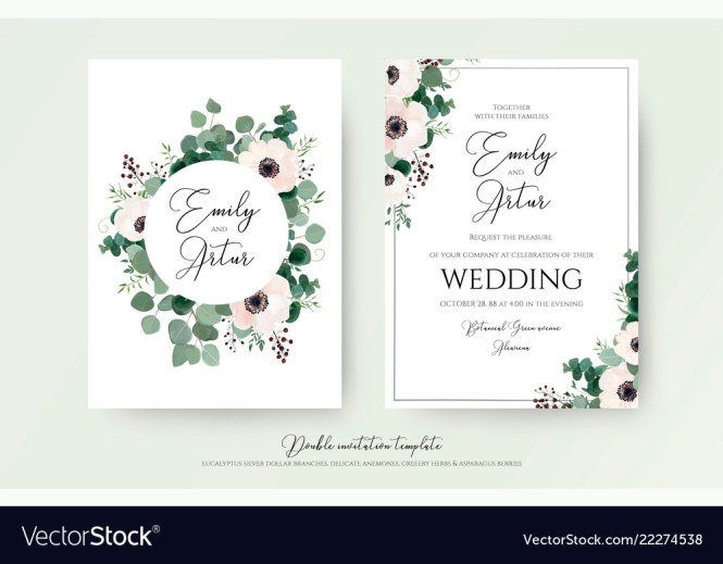 Wedding Invitation Fl Invite Modern Cute Card