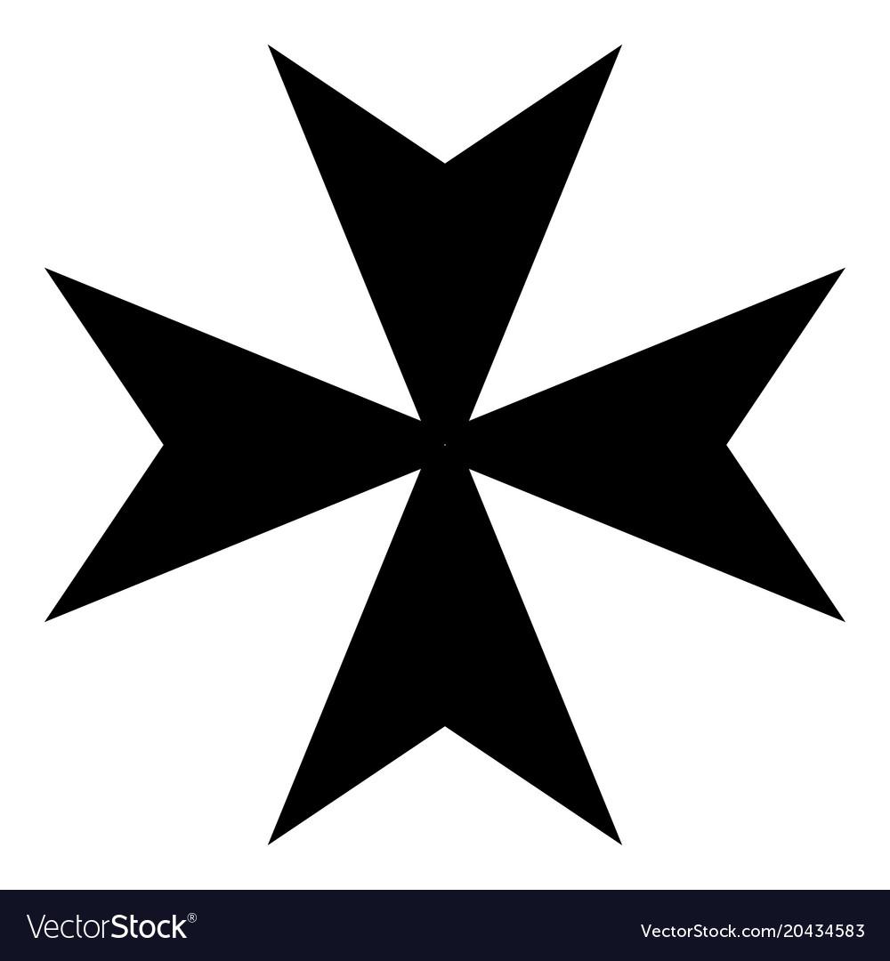maltese cross icon black